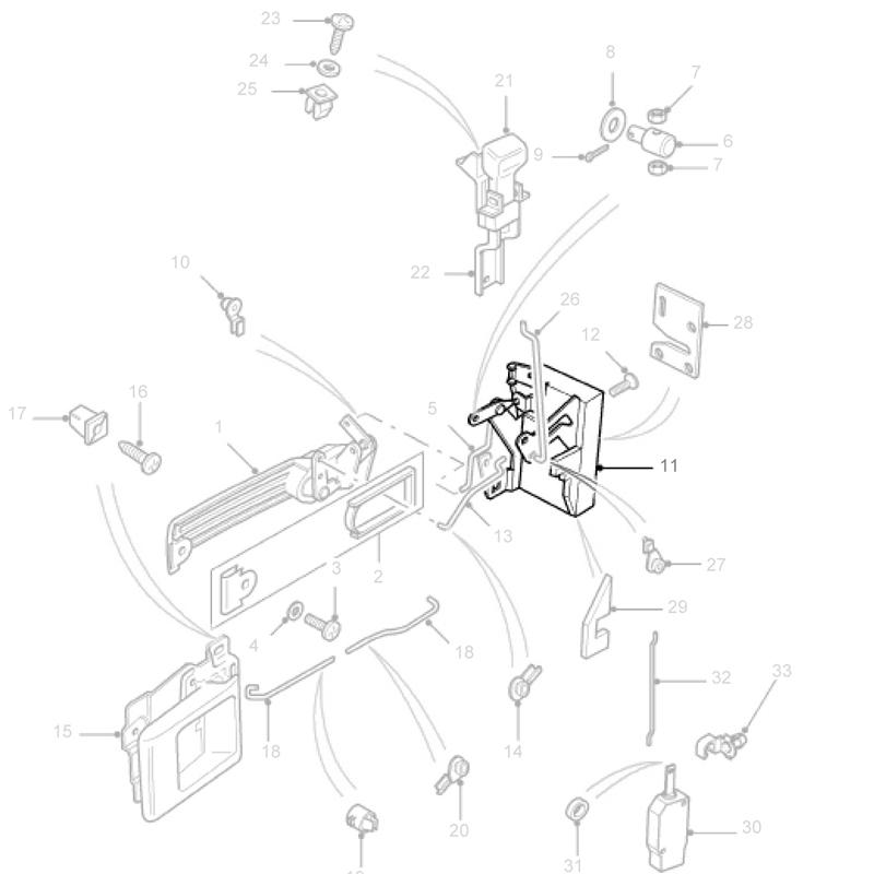 Latch Mechanism Rhf Door Defender Fqj500240 Fqj103160 Rni789
