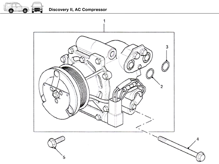 Land Rover Discovery Ii Ac Compressor Rovers North