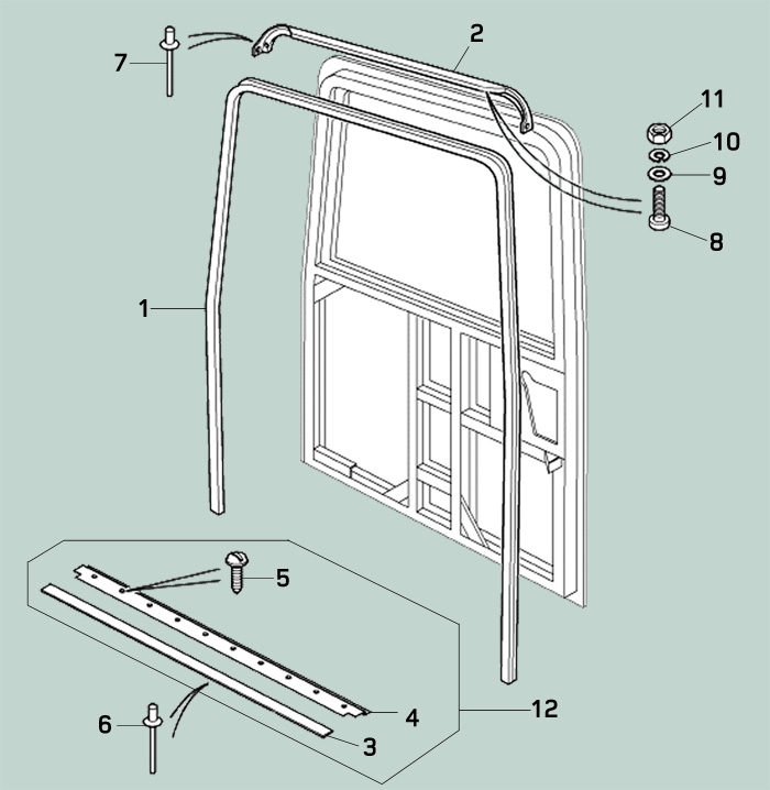 Defender Rear End Door Seals Rovers North Land Rover
