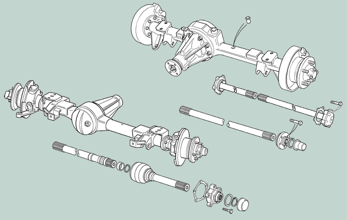 Defender Drivetrain Axle Shaft Rovers North Land Rover