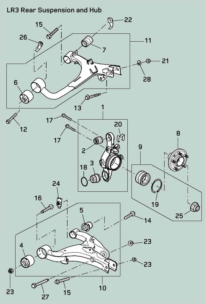 Land Rover Lr3 Rear Suspension