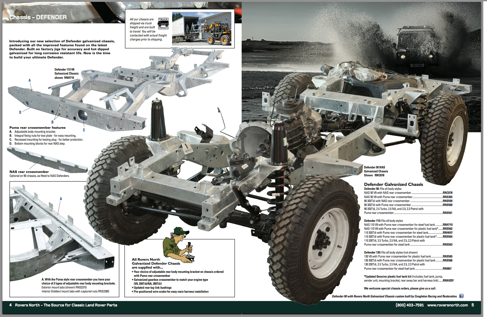 Defender Chassis Frame - Rovers North