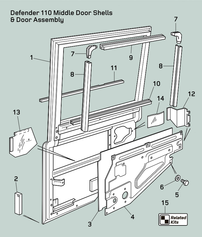Land Rover Defender Door Shells & Door Assembly