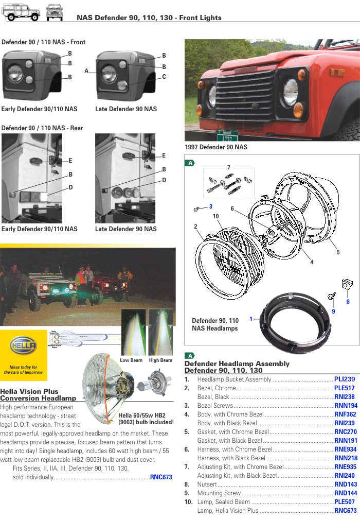 Defender Front Light Electrical Electrical