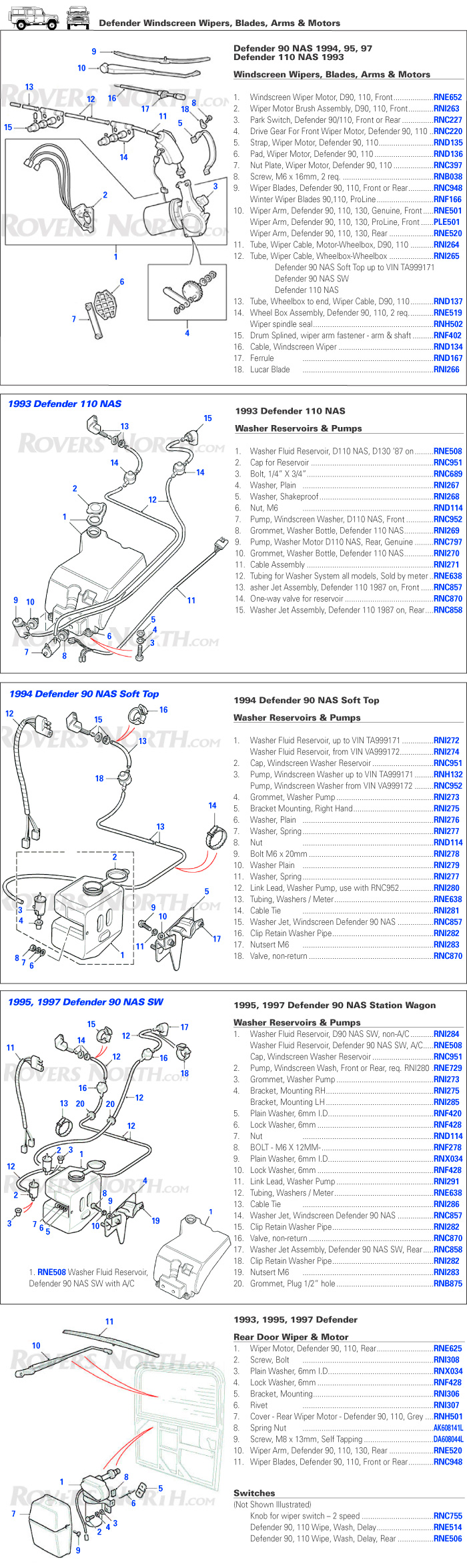 1995 Defender 90 Coil Wiring Diagram Explore Schematic Land Rover Electrical Windscreen Wiper Washer Rovers North Rh Roversnorth Com Ford Auto