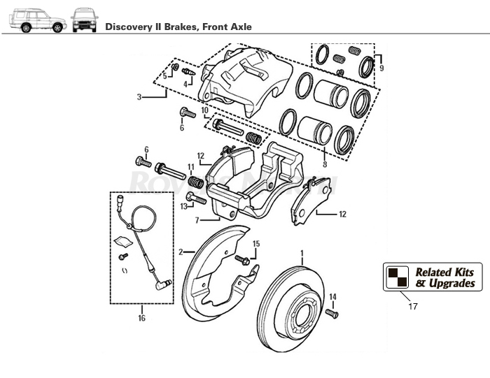 Discovery Ii Front Brake Rovers North