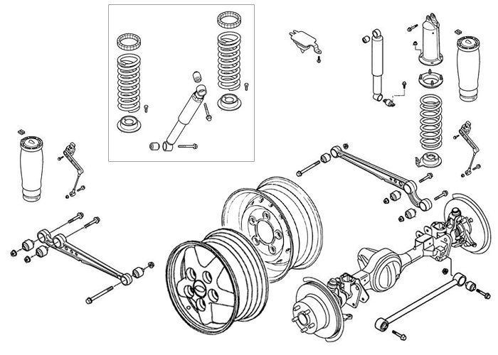Range Rover P38a Suspension