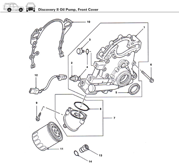Land Rover Discovery Engine Parts: Discovery II Engine Oil Pump