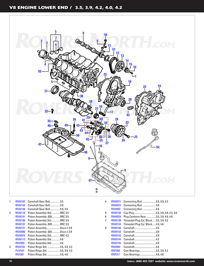 Range Rover Classic V8 Lower Engine Rovers North Land