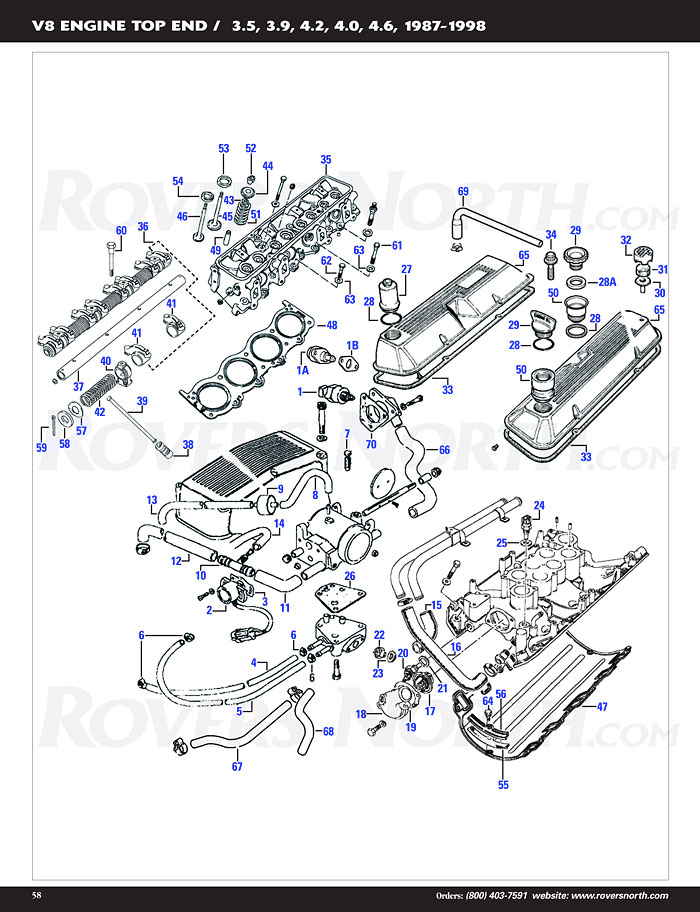 range rover classic v8 engine top end | rovers north ... land rover discovery 2003 engine diagram