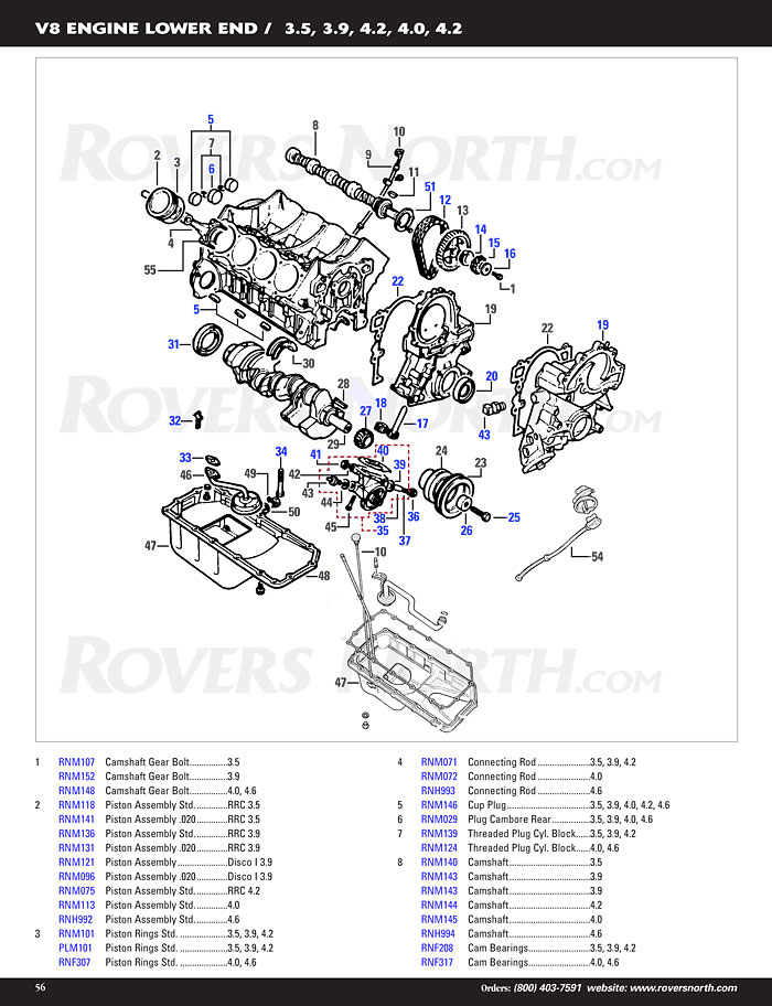 Discovery I V8 Engine Lower End Rovers North Land