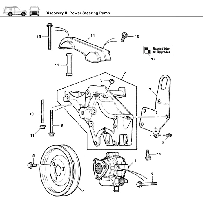 Discovery II Engine Power Steering Pump Rovers North Classic – Discovery Ii Engine Diagram