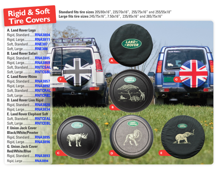 Discovery Ii Tire Covers Rovers North Land Rover Parts