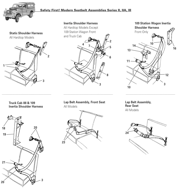 Series Ii Iia Iii Seat Belts Rovers North Land