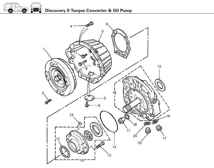 Transmission Torque Converter Amp Oil Pump Discovery Ii