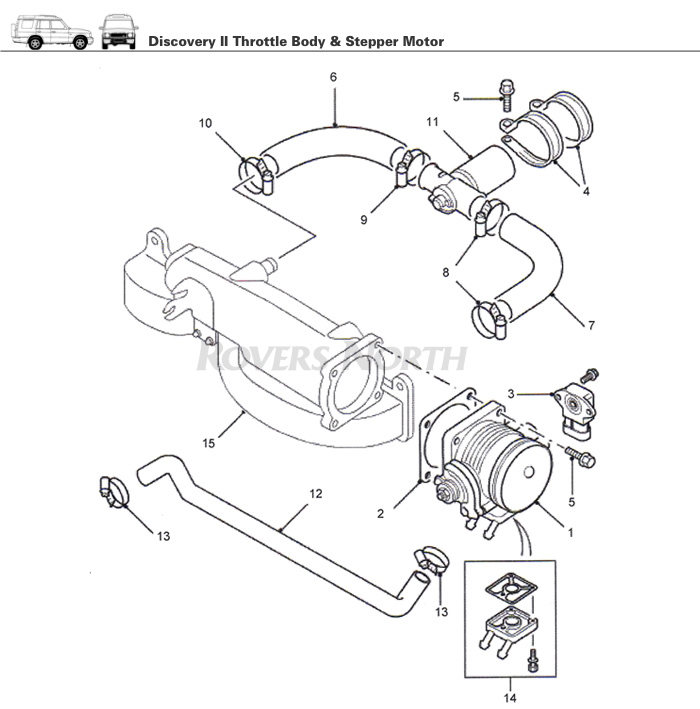 throttle body and stepper motor  top end  engine