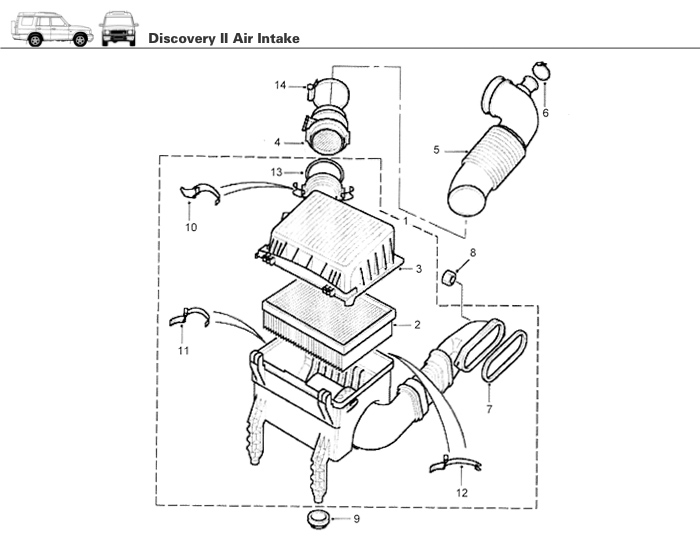 Air Intake for Discovery II Rovers North Classic Land Rover Parts – Discovery Ii Engine Diagram