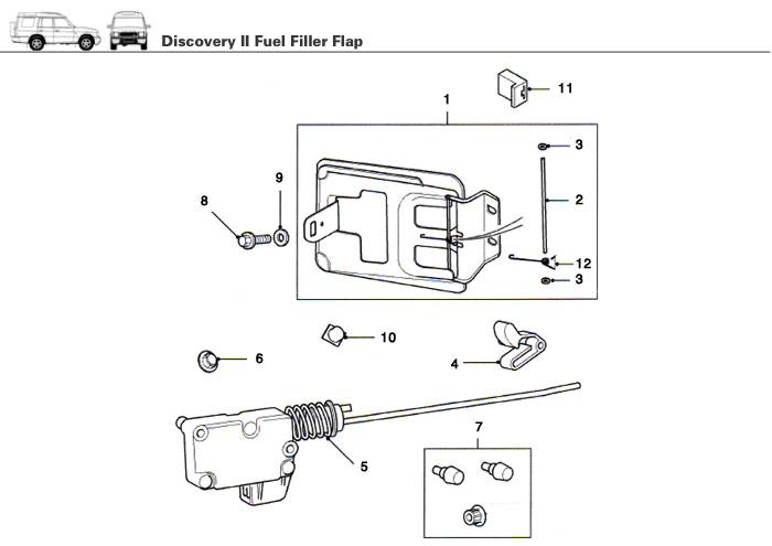Fuel Filler Flap Gas Flap For Discovery Ii Rovers
