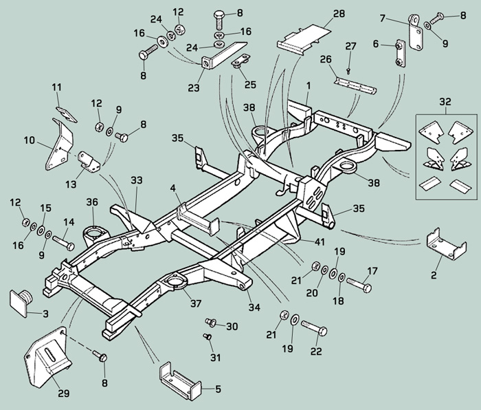 Landrover Defender 110 >> Defender, Chassis Repair Components | Rovers North - Land Rover Parts and Accessories Since 1979