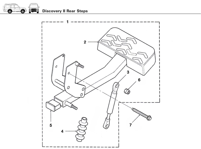 Discovery Ii Rear Steps Rovers North Land Rover Parts
