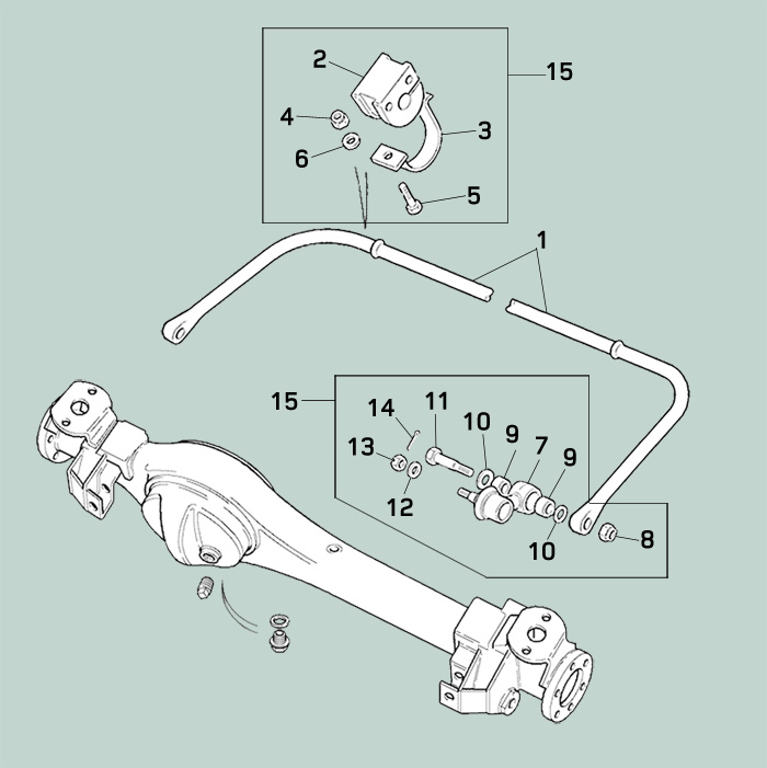 Front Anti Roll Bar Front Sway Bar For Defender Rovers