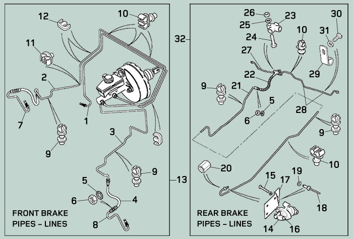 [ZTBE_9966]  Land Rover Defender 110 Brake Lines | Rovers North - Land Rover Parts and  Accessories Since 1979 | Rover Brakes Diagram |  | Rovers North