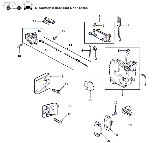 Discovery Ii Rear End Door Door Latch Rovers North
