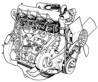 Land Rover Defender 2.5L Diesel Engine