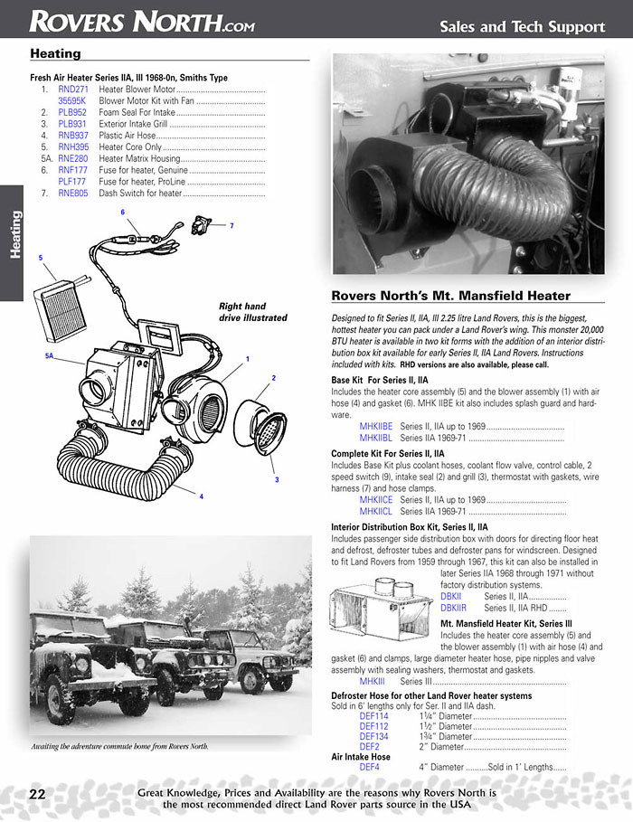 LR page22.1 series ii, iia, iii, cooling & heating rovers north classic Land Rover Series IIA 109 at creativeand.co