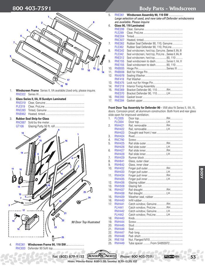Land Rover Series Ii Iia Amp Iii Windscreen Rovers North