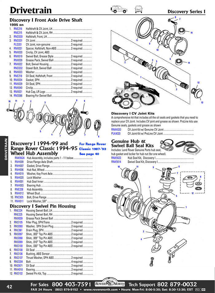 Discovery I Drivetrain Axle Shaft Rovers North Land