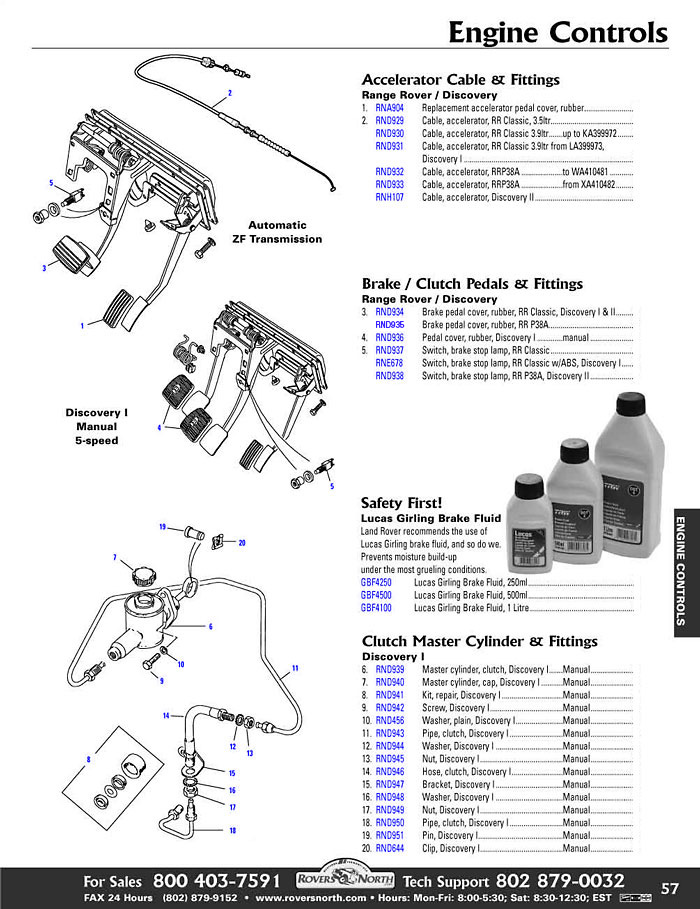 RRD page57.1 discovery i interior shift boot, pedal pad body rovers north  at n-0.co