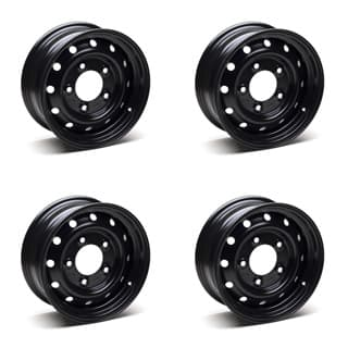 SET OF 4 WOLF ROAD WHEELS 6.5in X 16in KIT