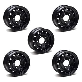 SET OF 5 WOLF ROAD WHEELS 6.5in X 16in KIT