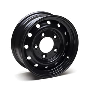 "WOLF HEAVY DUTY STEEL WHEEL IN BLACK 16"" x 6.5"""