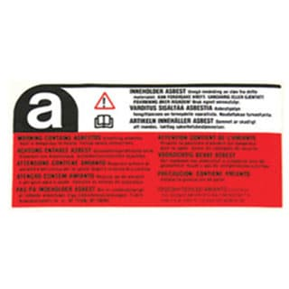 LABEL ASBESTOS WARNING