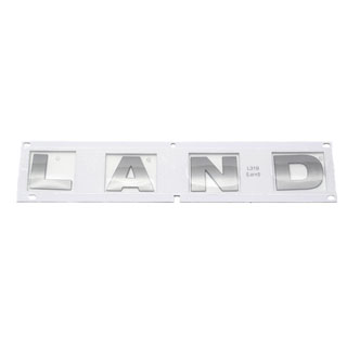 "DECAL ""LAND"" BONNET LR3  BRUNEL CHROME"