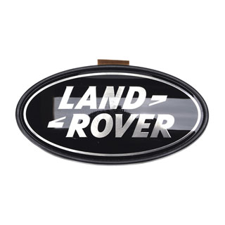 "Badge ""Land Rover"" Rear Blk/Slv  L322"