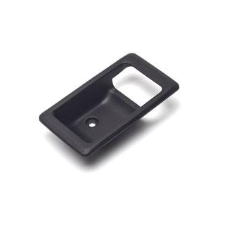ESCUTCHEON RH INTERIOR DOOR LATCH BLACK RANGE ROVER CLASSIC & DEFENDER