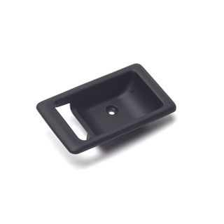 Escutcheon LH Interior Door Latch Black RRC & Defender