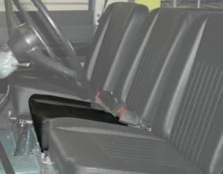 SEAT BOTTOM DELUXE CENTER SERIES II,IIA,III - BLACK VINYL