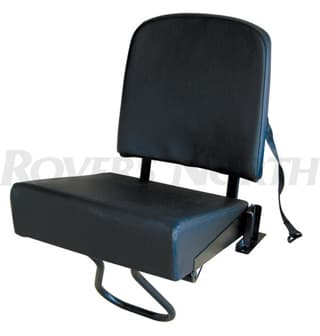 REAR JUMP SEAT - BLACK FRAME -  BLACK VINYL SERIES AND DEFENDER 1959 - 2006