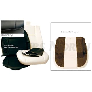 FRONT DEFENDER SEAT RETRIM KIT - BLACK VINYL