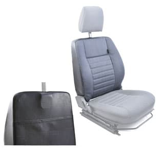 Seat Back Cover With Rear Pocket For Defender Front Outer Seat in Car Denim