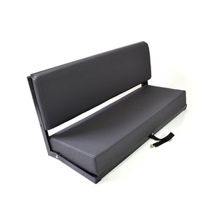 2 Man Bench Dark Grey Vinyl