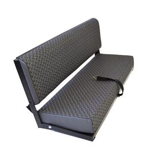 Rear Side Bench Seat For Series & Defender - Techno Vinyl - Black Frame