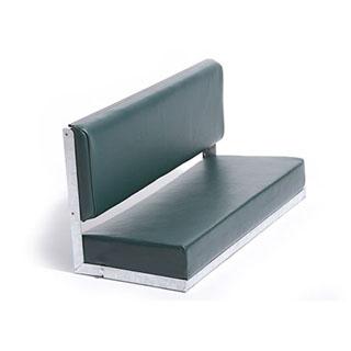 80 Bench Galvanised Green