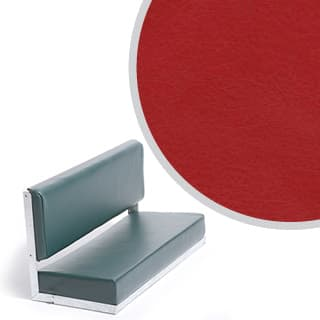 80 Bench Galvanised Red