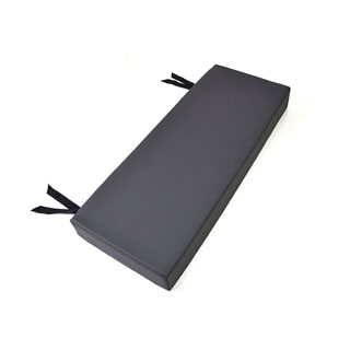 2 Man Bench Cushion Dark Grey Vinyl