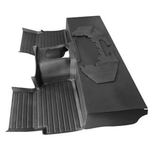 MOULDED MATTING SYSTEM 3-PIECE DEFENDER V-8 LHD or RHD, BLACK
